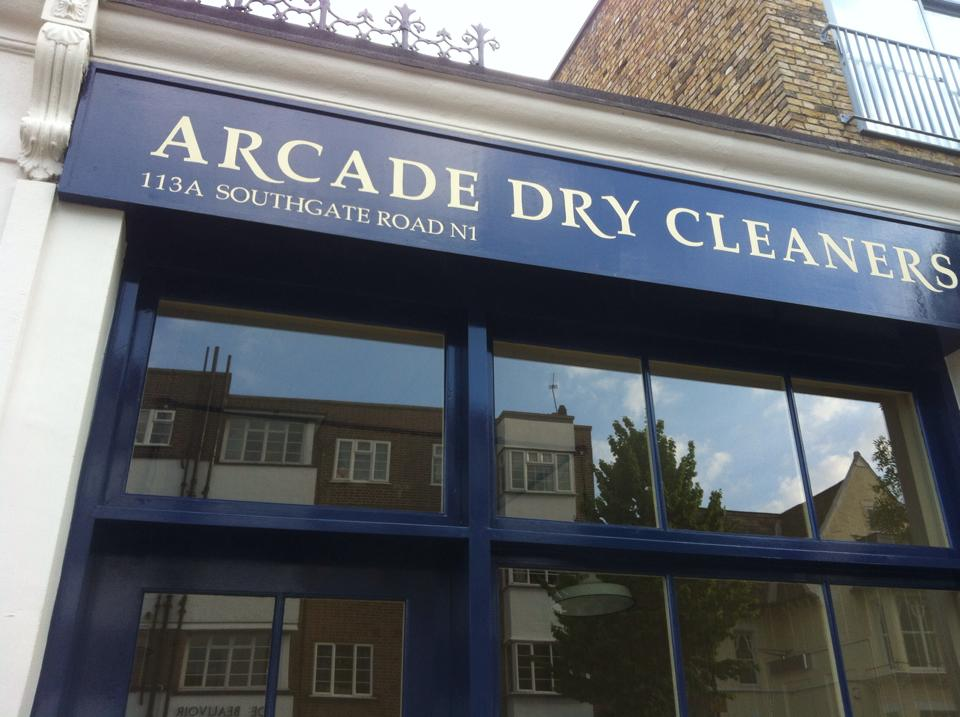Dry Cleaners signwritten by London's NGS