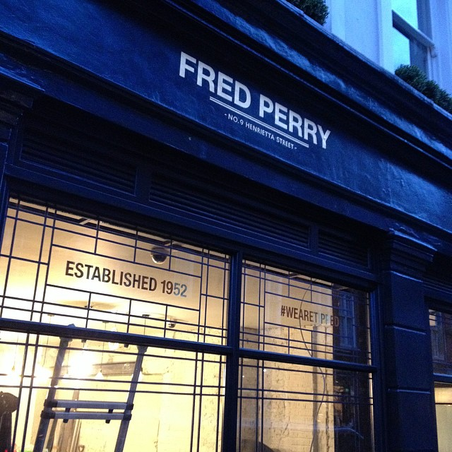 Fred Perry Finished gilded letters by NGS Nick Garrett Signs
