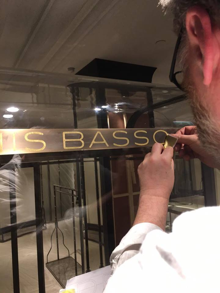 Gold leaf fine lettering NGS superior sign gilding!!