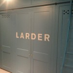 Larder for Plain English London NGS sign painter Nick Garrett