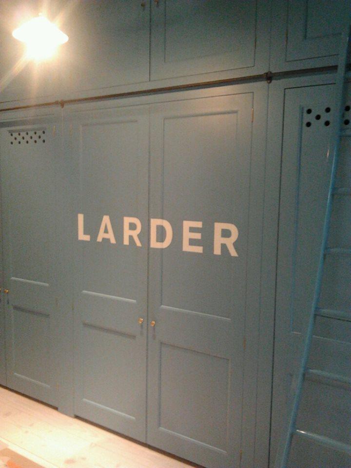 Larder for Plain English London NGS sign painter Nick Garrett