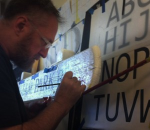 Nick Garrett Teaching Lettering