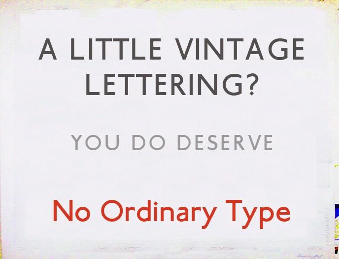 No Ordinary Type NGS signwriter Nick Garrett London