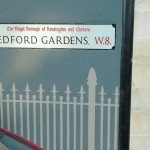 Railings Central London signs Notting hill Nick Garrett sign writer