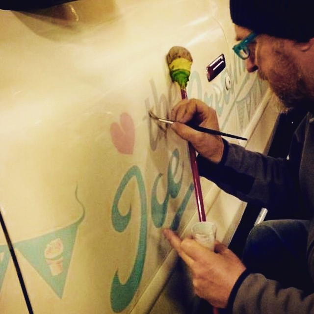 The Ice Cream Cab Signwriting by Nick Garrett 003