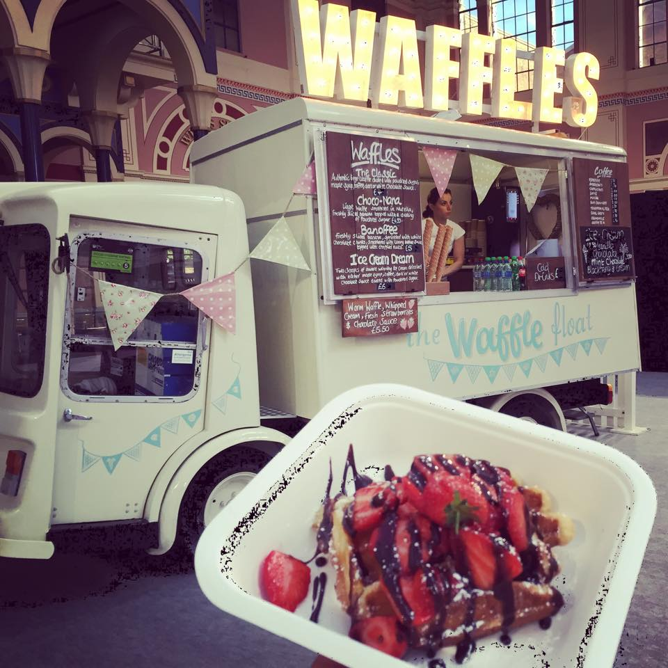 Waffle Float by NGS London signwriting