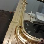 gold-leaf-overmantel restored by Nick Garrett