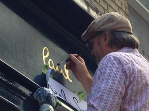 Gilding Paul Smith shop in Soho NGS London