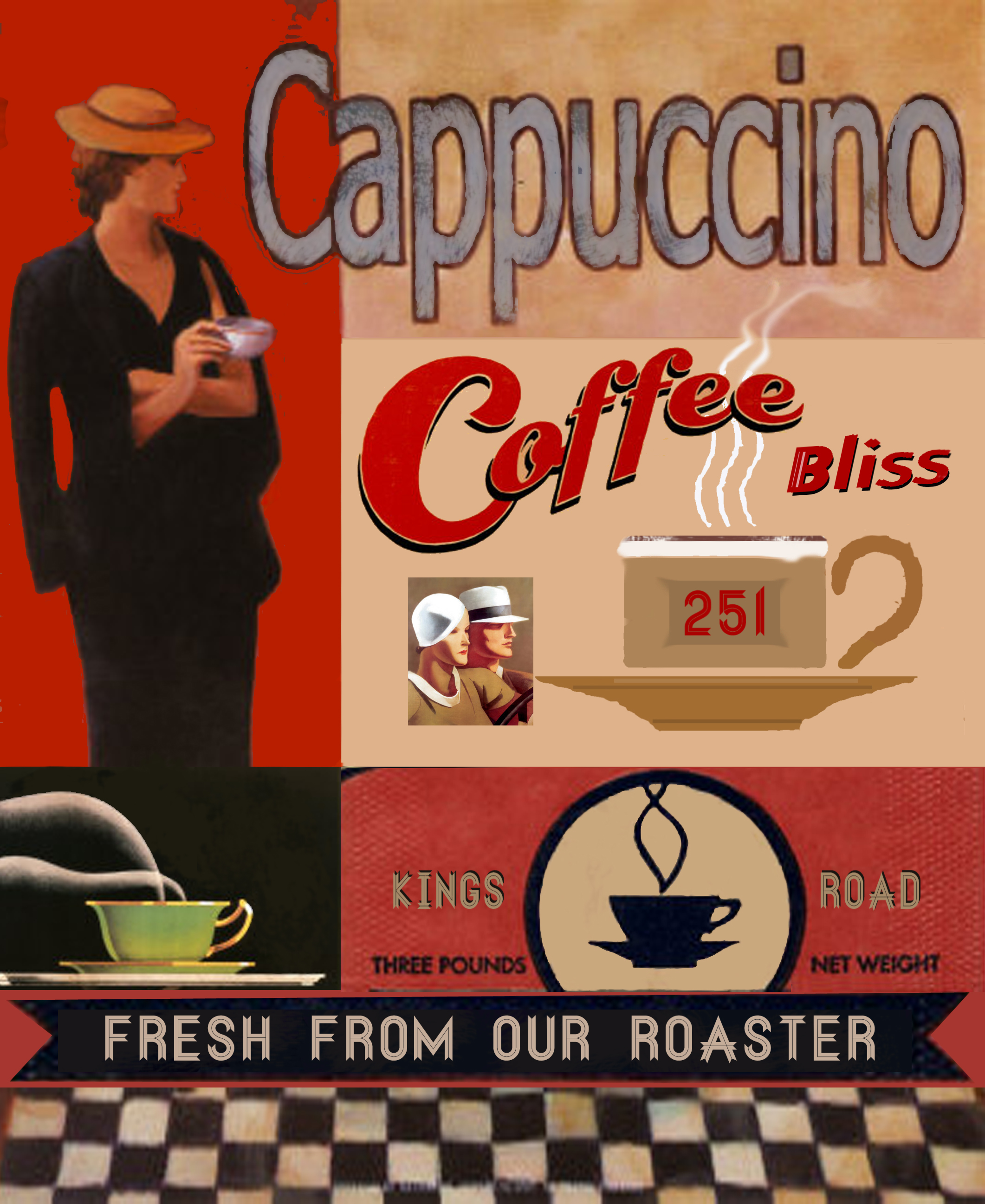 New Retro Caffe Poster Design Ngs Ngs