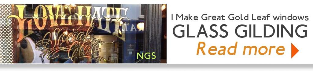 Glass gilding NGS London