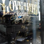 Love Hate Gilded Glass Logo Nick Garrett signs