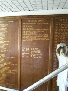 Teddington Hospital Honours Board lettering NGS London
