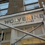 Wolverine just done Covent garden shoe shop NGS shop sign painters london