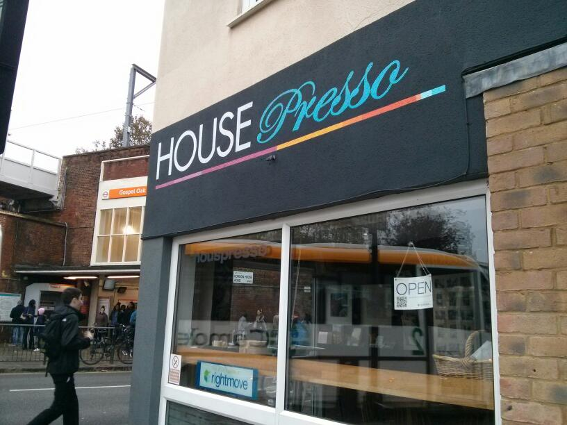 House Presso signage by Nick Garrett NGS London