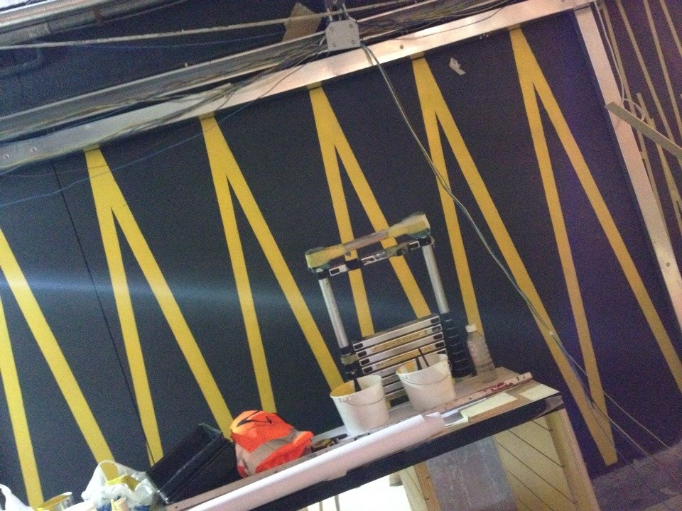 22m Zig Zag Mural Gymbox Old St by NGS 2