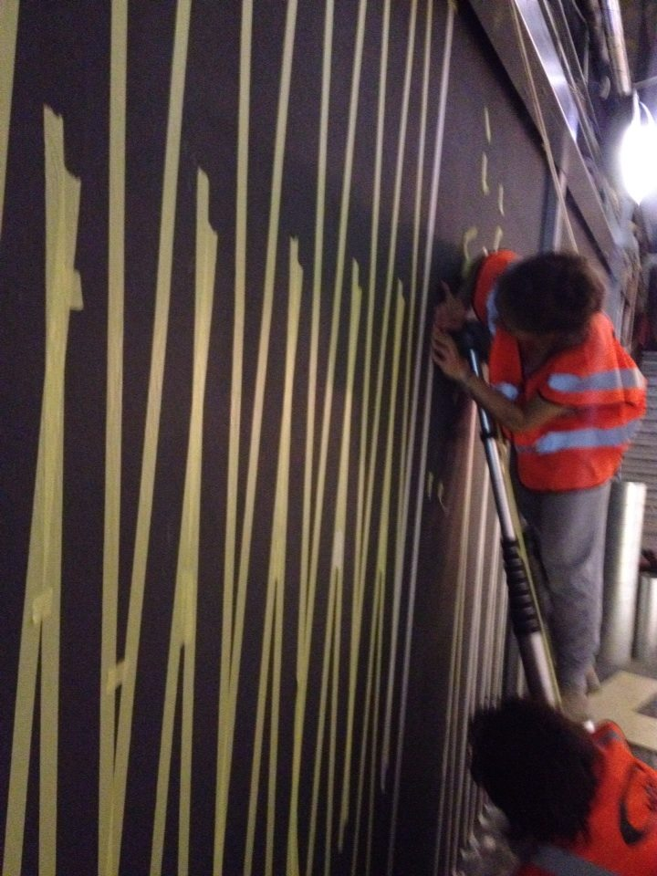 22m Zig Zag Mural Gymbox Old St by NGS 3