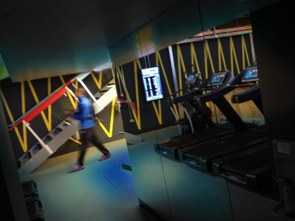 Yellow band zag Box Gym by NGS London