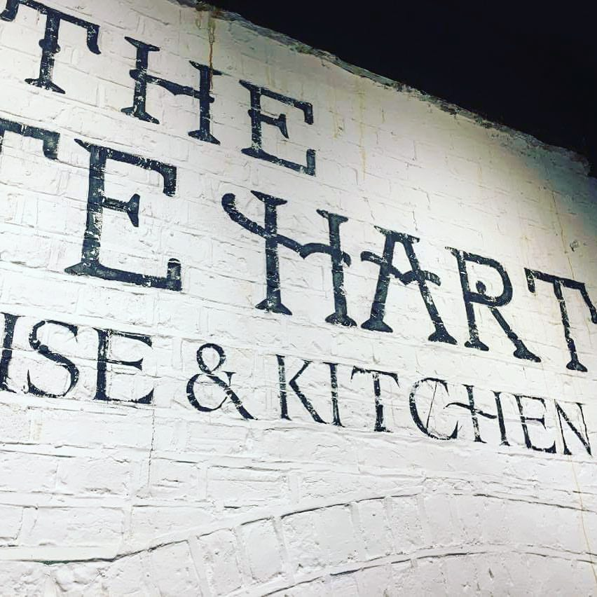 The White Hart distressed lettering Tobi NGS