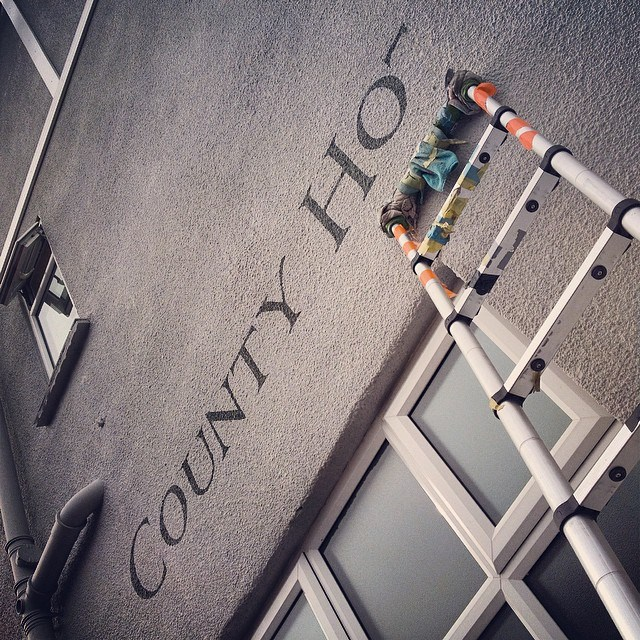 County Hotel signage Always by eye - by Nick Garrett Signs London