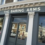 The Baring Arms by Nick Garrett London Signwriter