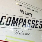 3 Compasses NGS London interior sign