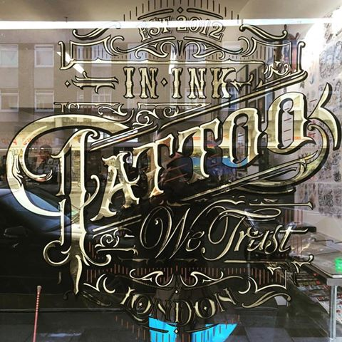 In Ink We Trust Glass gilder Nick Garrett signwriter