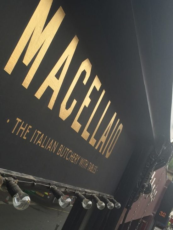 Half poster Block NGS Gold Leaf signwriting London Milan Paris