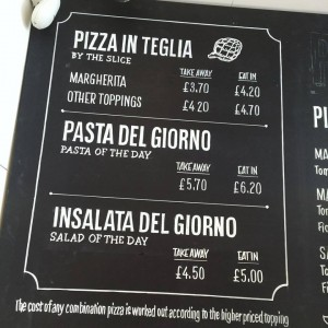 Pizza Nativa interior sign panels NGS
