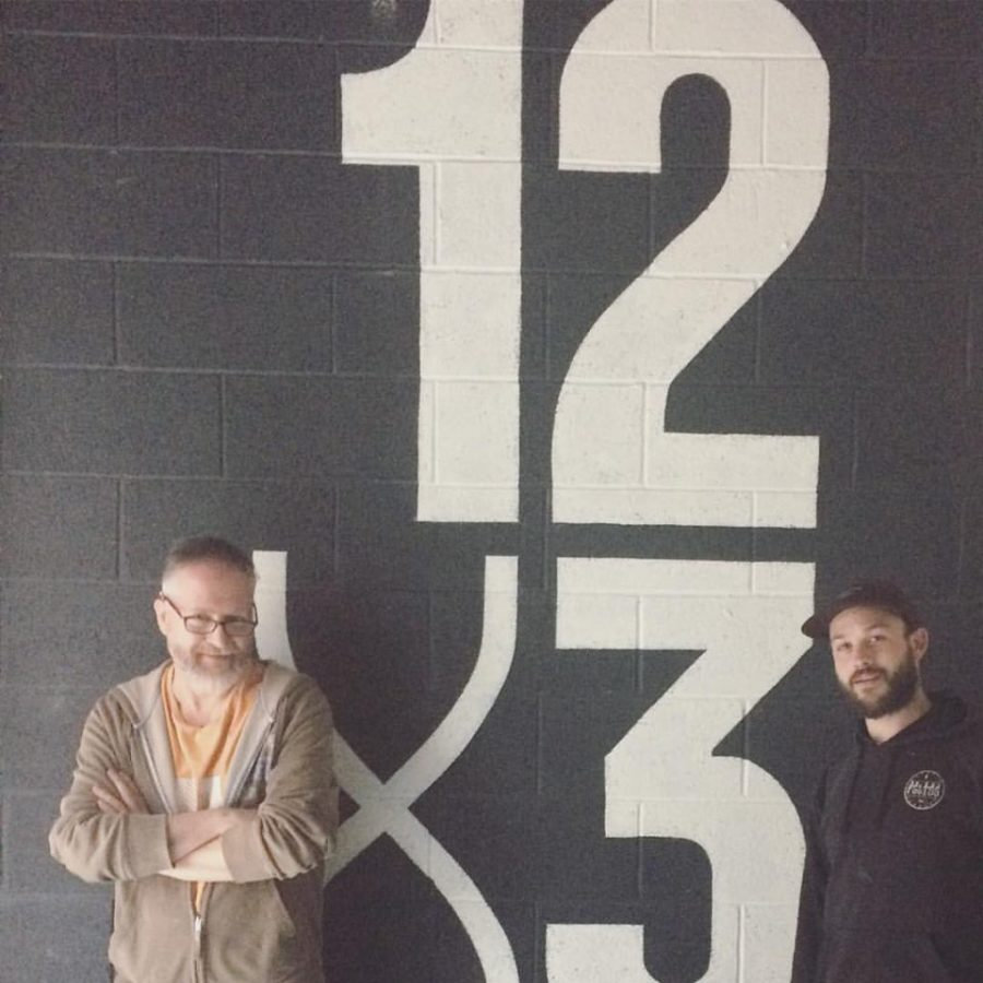 Nick Garrett and Dave King on site at 12 x 3 Boxing Gym