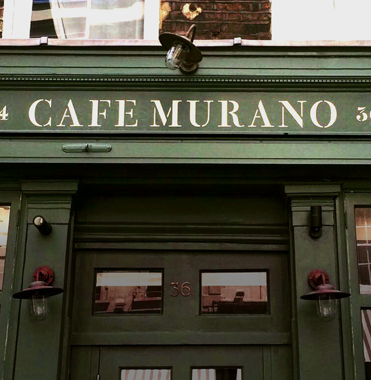 Cafe Murano NGS signwriting London