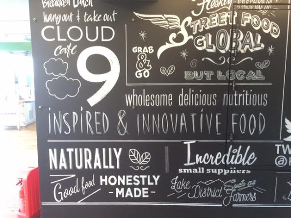 Cloud 9 cafe London by Nick Garrett Signwriter