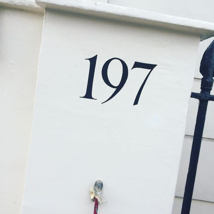 Home house number Numeral NGS London Signwriter