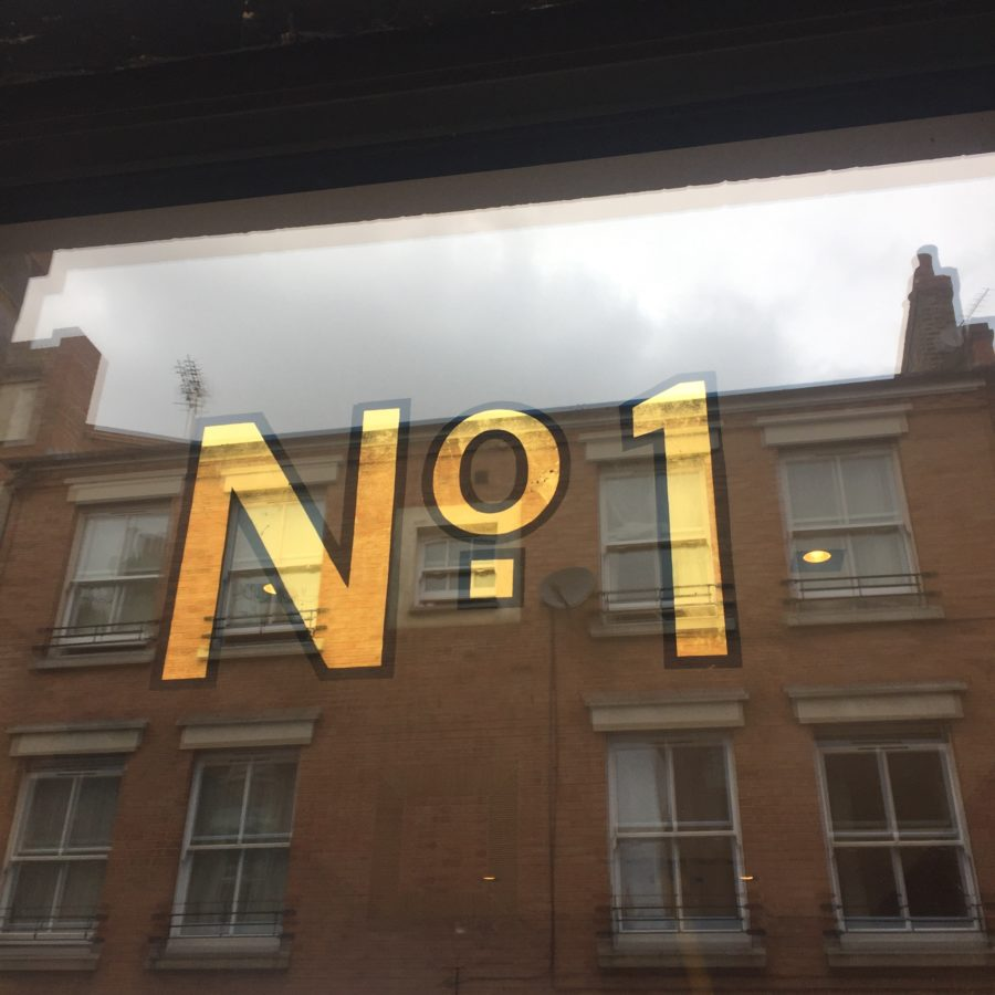 No 1 glass gilding London signwriter NGS
