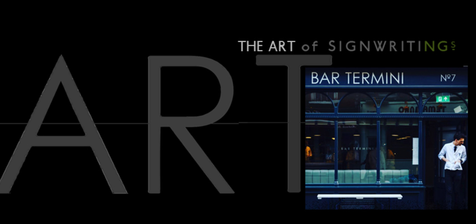 Bar termini NGS Signwriting London