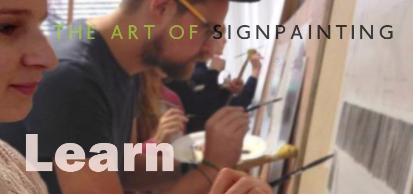 Learn to Signwrite in UK with NGS Signsmiths of London Nick Garrett