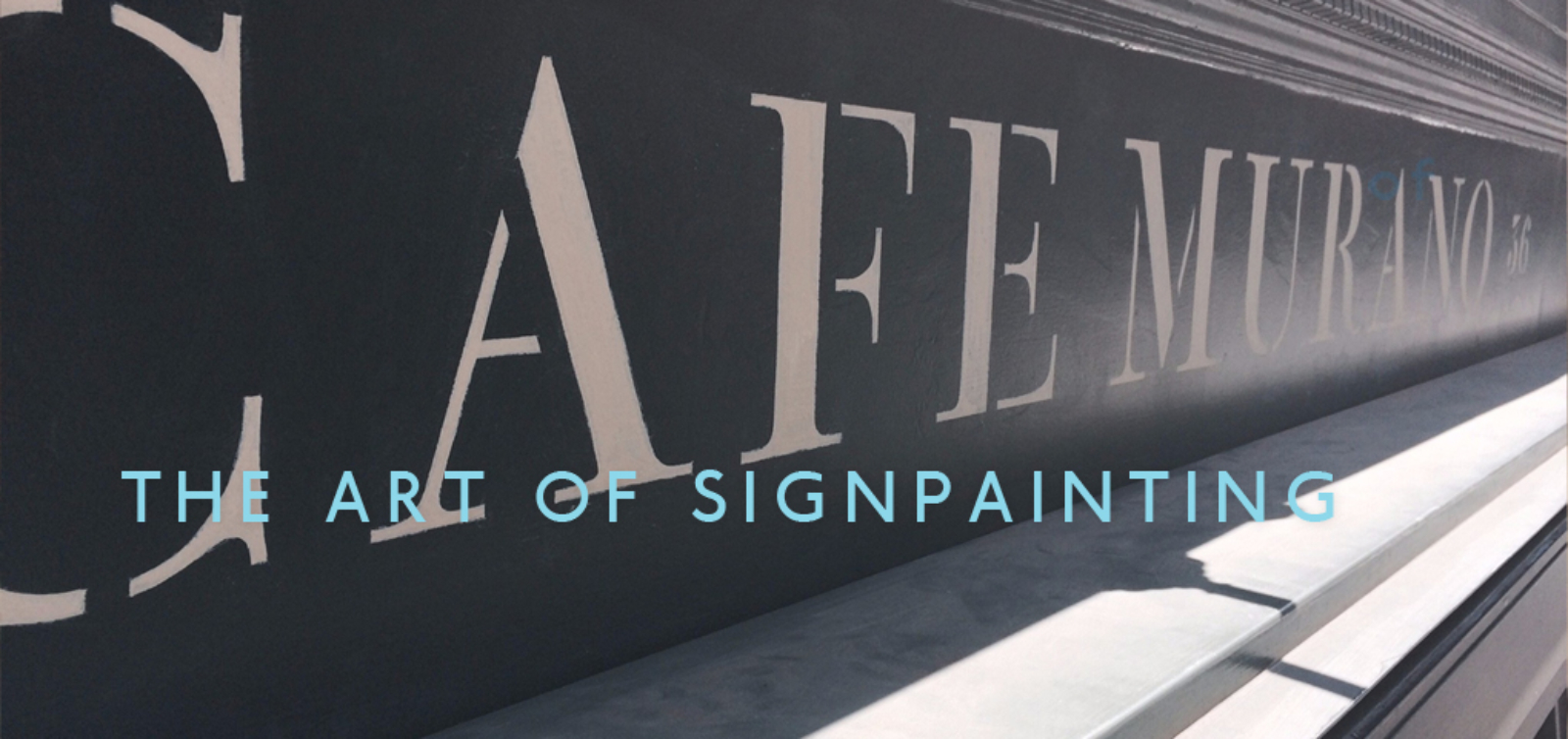 NGS The Art of Signpainting Service and Courses UK, London